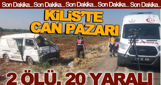 TRAFİK KAZASI 2 ÖLÜ, 20 YARALI