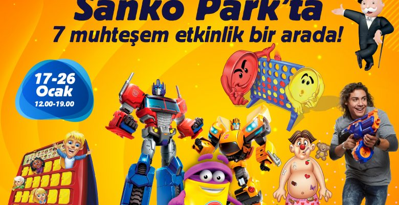 Birbirinden Eğlenceli Oyunlar Sanko Park'ta