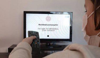 EBA TV'de günün ders programı belli oldu!
