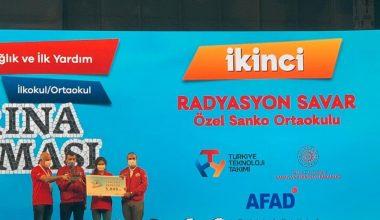 SANKO Okulları'nın projesi Türkiye ikincisi oldu