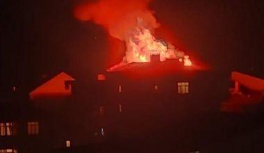 Gaziantep'te Yangın Panik Yarattı