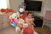 Gaziantep'te babası şehit olduktan sonra dünyaya gelen Bahar'a doğum günü sürprizi